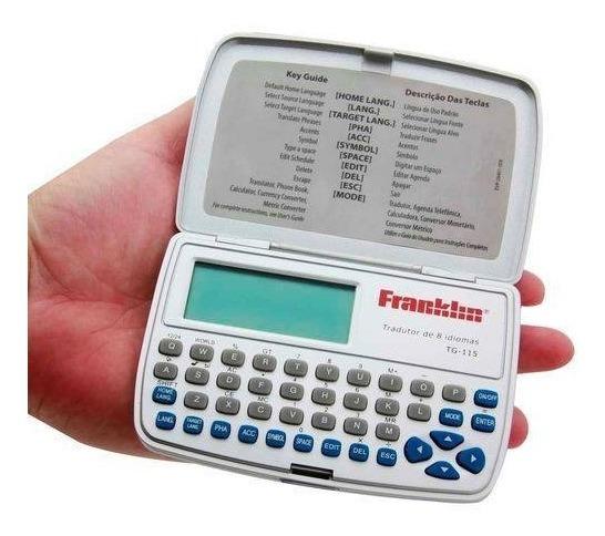 Tradutor Eletrônico Franklin Tg-115 Com 8 Línguas Com Agenda