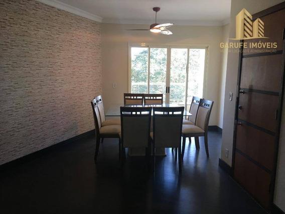 Apartamento Com 3 Dormitórios Para Alugar, 105 M² Por R$ 1.850/mês - Jardim Aquarius - São José Dos Campos/sp - Ap1270