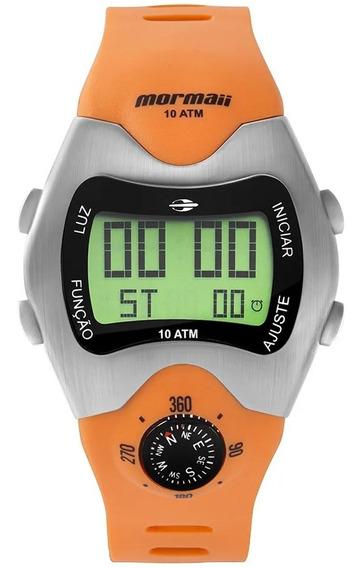 Relógio Mormaii Bussola Digital Retro Mo1324ab/1l Cx E Nota