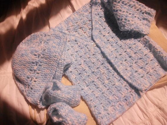 Saquitos Tejidos A Crochet, De 0 A 3 Meses.