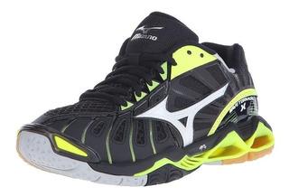 Tenis Mizuno Tornado X Negro Amarillo 28.5 Voleibol Hand Bal