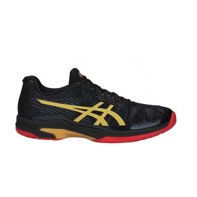 Tênis Asics Gel Solution Speed Ff L.e. - Black/rich Gold