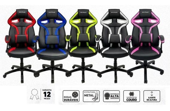 Cadeira Gamer Mx1 Giratoria Preto/azul - Mymax