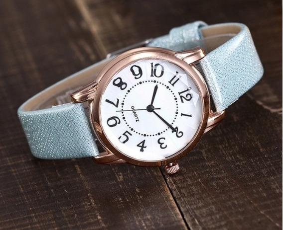 Relógio Vansvar Para Mulheres Casual Pulseira De Couro