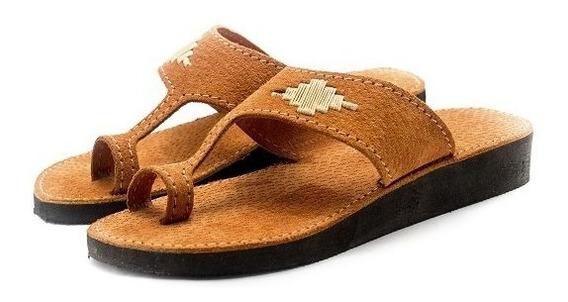Zapatos Sandalias Chinelas Artesanales Cuero Vacuno Dama Arc