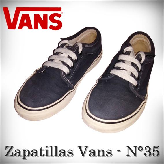 Zapatillas Vans - N°35 - Negras - Buen Estado - Ituzaingó.