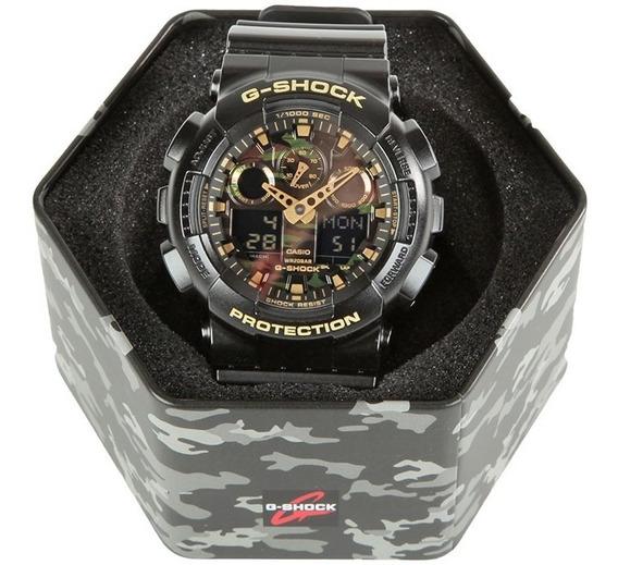 Relógio Casio G-shock Ga-100cf-1a9dr Camuflado / Original