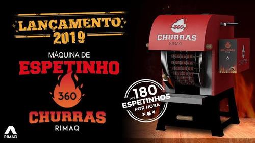 Imagem 1 de 4 de Máquina De Espetinhos Churras 360 - Churrasqueira De Espetos