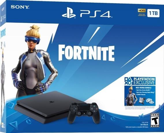 Play Station Ps4 1tb Fortnite Sellado Tarjetas Crédito Local