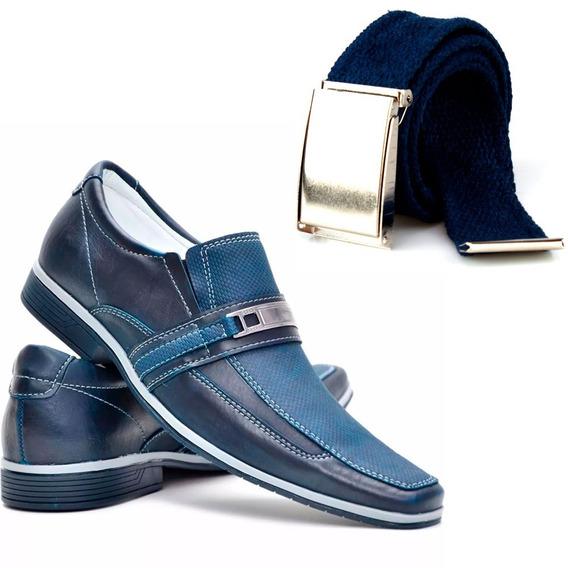 Sapato Sapatenis Tenis Casual Masculino Macio + Brinde Cinto