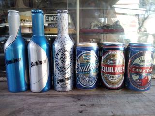 Cerveza Quilmes Lote Latas Botellas Aluminio Coleccionables