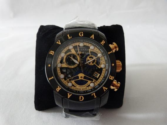 Relógio Bvlgari Iron Man Skeleton Black