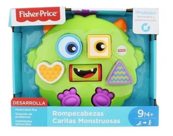 Fisher Price Rompecabezas Caritas Monstuosas Original