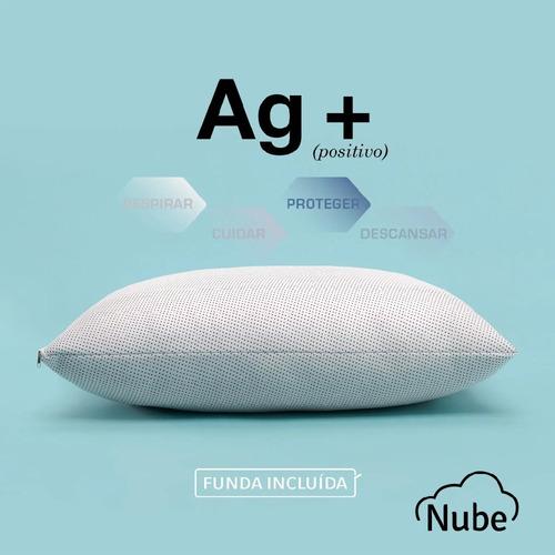 Imagen 1 de 8 de Almohada De Vellon Antibacterial Nube Ag+  70cm X 50cm