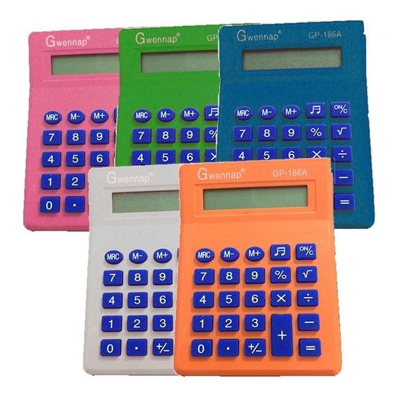 Mini Calculadora C/ Visor Gwennap De Bolso 8 Dígitos Cores