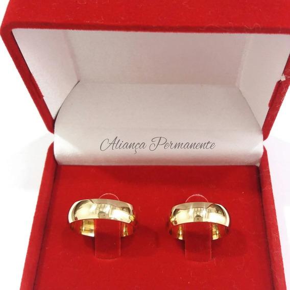 Par Alianças 6mm Casamento Noivado Moedas Antigas + Gravação