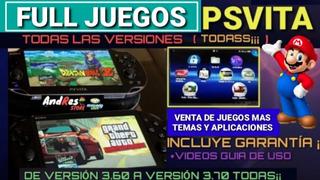 Full Juegos Para Psvita Psp Vita Todas Versiones 3.60 A 3.73