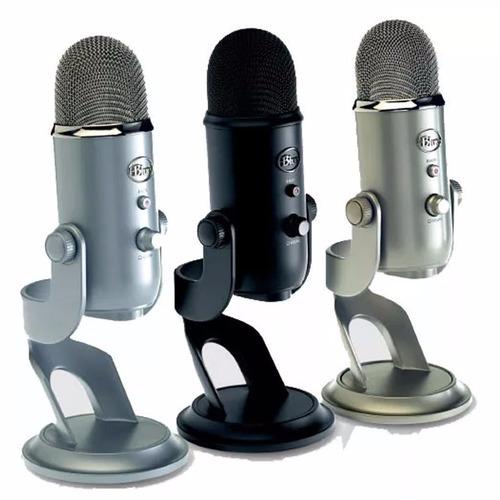 Blue Yeti Microfono Profesional Usb Multi Patron Condenser