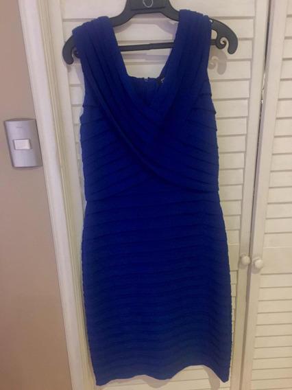 Vestido Fiesta Adrianna Papell Azul Rey Talla 10