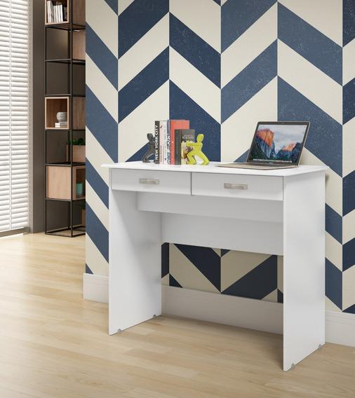 Escrivaninha 2 Gavetas - Branco