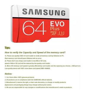 Samsung Evo Plus Microsd Sdxc 4k Original+ Adaptador