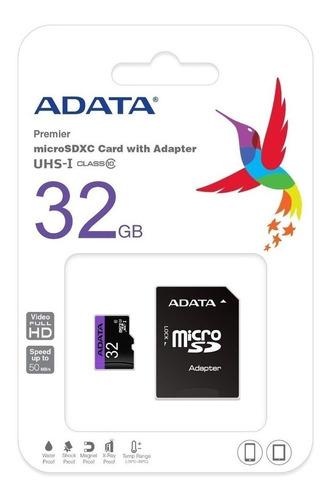 Combo 2 Memoria Micro Sd 32 Gb Adata Clase 10 A1