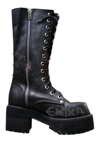 Eretica Ropa Dark- Bota Larga Con Cierre-gotico-metal-rock