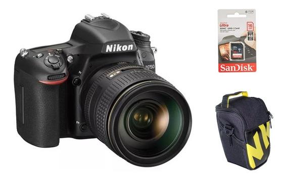 Câmera Nikon D750 + Lente 18-55mm Dx Vr + Bolsa + Cartão