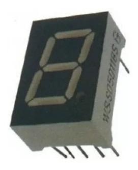 Kit-50 Pç Display 7 Segmentos 1 Dígito Vermelho Anodo Comum