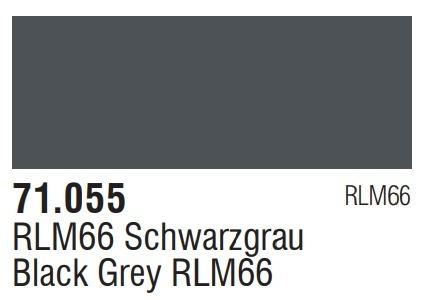 Tinta Black Grey Rlm66 71055 Model Air Vallejo Modelismo