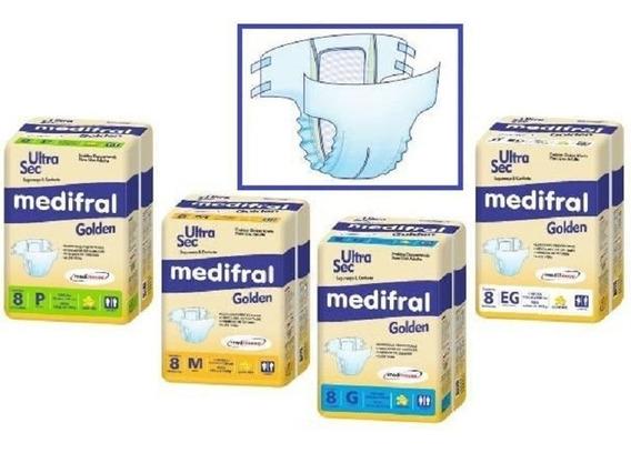Fralda Geriátrica Descartável Medifral Golden Medi House