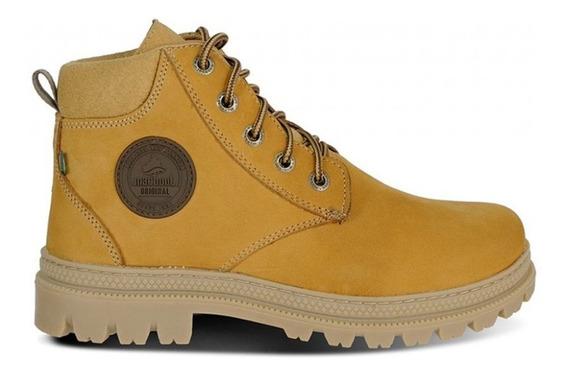Sapato Nobuck Cadarço Mostarda Ca0002-no89 - Macboot