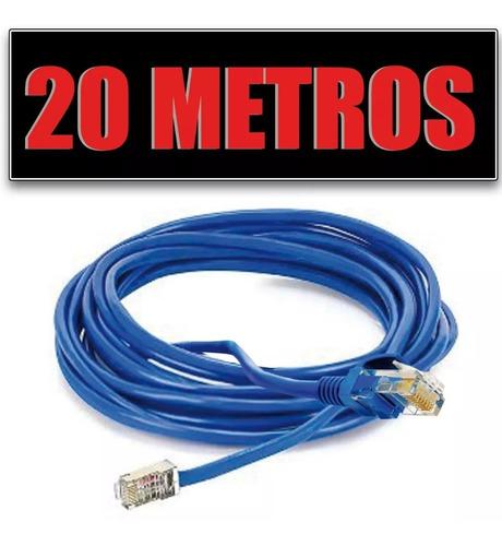 Cabo De Rede Internet Lan Montado 20 Metros