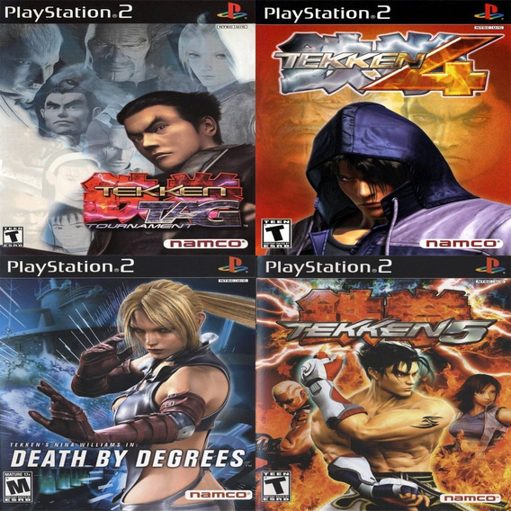 Promoção Coleção 4 Jogos Tekken Ps2 Patch