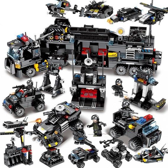 Blocos Swat 695 Peças Compatível Lego 4 Em 1 Completo