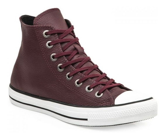 Botitas Converse All Star Bordo Cuero Vacuno! 2019