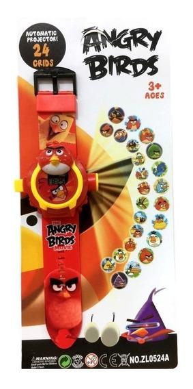 Relógio Projetor Angry Bird Infantil Criança