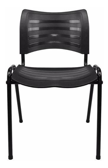 Cadeira Iso Plástica Fixa Empilhável Igreja, Escola