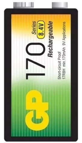 Pilas Recargable 9v Gp 1700 Mah Bateria Nimh