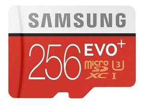 Micro Sdxc Samsung 256gb + Micro Sd Adapter + Usb Adapter