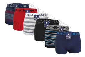 Kit Com 30 Cuecas Box Atacado Black Jack Top
