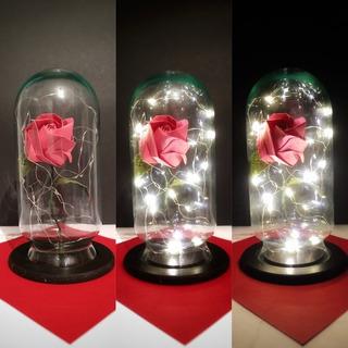 Rosa Eterna Luz Led Origami Eventos Y Fiestas ! Mayoreo!!!