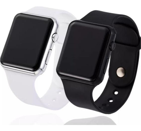 2 Relógios De Pulso Digital Led Masculino Feminino Barato