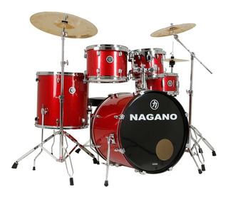 Bateria Nagano Garage Rock Ws / Bumbo De 22 / Completa