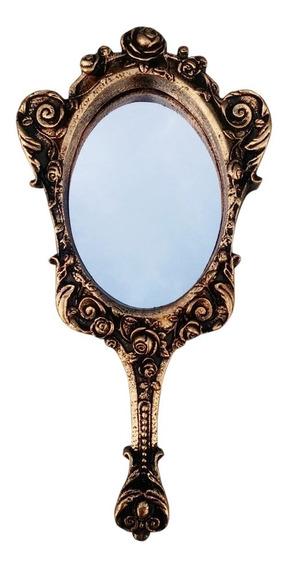 Espelho De Mão Floral Provençal A Bela E A Fera - Promoção