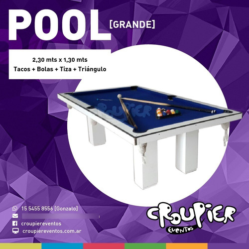 Imagen 1 de 10 de Alquiler De Mesa De Pool Metegol Ping Pong Tejo Sapo Golfito