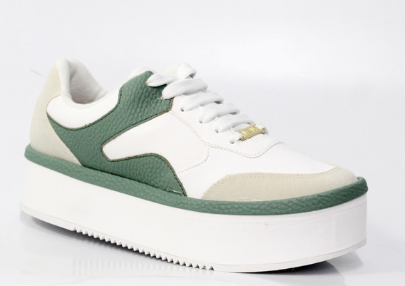 Tênis De Nulce Flatform Vizzano Branco/verde Menta 1298.616