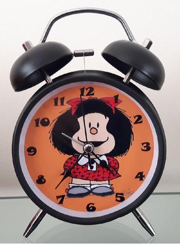 Imagen 1 de 2 de Reloj Despertador Estilo Vintage Mafalda Lindo Regalo