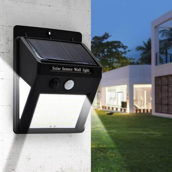 Luminária Led Arandela Solar 60 Leds Com Sensor De Presença