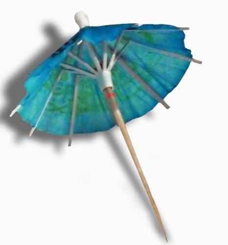 Paraguas Sombrillas Escarbadiente Picadas X 72 U. Belgrano